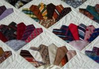 six mens ties to make a fancy fans block then make a Cozy Tie Quilt Patterns For Beginners