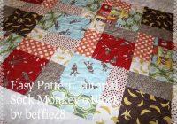 sock monkey magic 9 block ba quilt pattern tutorial pdf file w photos Unique Sock Monkey Quilt Pattern Inspirations