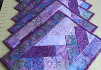 sold set of eight quilted placemats purple batik cotton Unique Quilted Placemats Patterns Inspirations