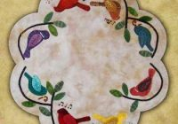 songbirds table mat wool applique quilt pattern Interesting Wool Applique Quilt Patterns