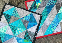 speed piece half square triangles with no two alike Cozy Half Triangle Quilt Blocks