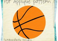 sports applique template basketball applique pattern Cool Basketball Quilt Pattern Gallery