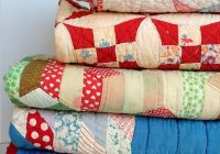 stack of vintage patchwork quilts art print Elegant Vintage Patchwork Quilts