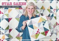 star cakes free quilt pattern with fat quarter shop the Stylish Quilt Patterns For Layer Cakes By Moda Gallery
