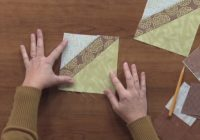 stitch and flip quilt tutorial national quilters circle Cozy Flip And Sew Quilting Method Inspirations