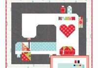 stitched with love downloadable pdf quilt pattern thimble Cozy I Love Sewing And Quilting