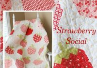 strawberry social downloadable pdf quilt pattern the pattern Elegant Strawberry Quilt Pattern Inspirations