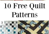 Stylish 10 free quilt patterns 9 New Perfect Ten Quilt Pattern Free Inspirations