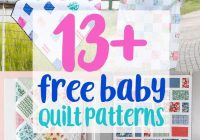 Stylish 13 free ba quilt patterns to sew coral co Stylish Patchwork Baby Quilt Patterns Free