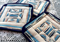 Stylish art threads wednesday sewing more north star quilted Modern Northstar Quilted Potholder Pattern Gallery
