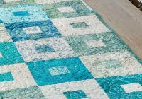 Stylish beach glass table runner pattern 10 Modern Easy Table Runner Quilt Patterns