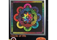 Stylish circle of life jacqueline de jongue Circle Of Life Quilt Pattern