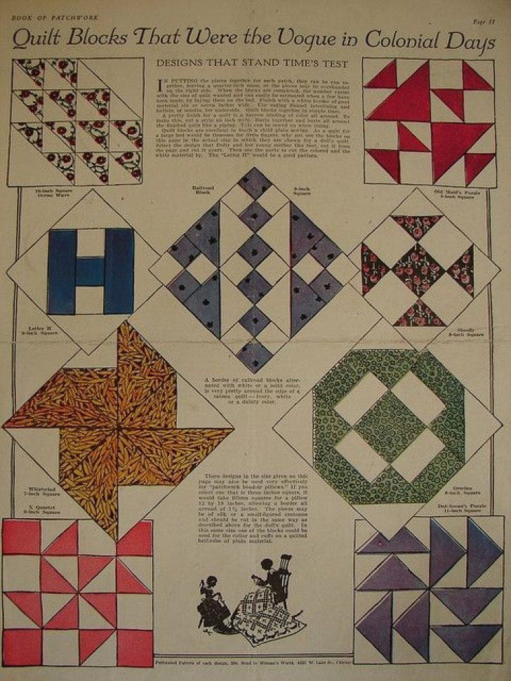 Permalink to 9 Unique Vintage Quilt Block Patterns Gallery