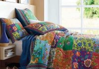 Stylish cotton handmade patchwork quilt set 3pcs vintage bedspread 11 Cool Vintage Quilt Bedding Inspirations