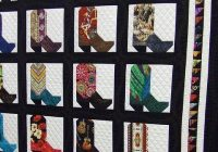 Stylish cowboy boot quilt seen at arizona quilt show cowboy quilt 9 Cozy Cowboy Boots Quilt Pattern