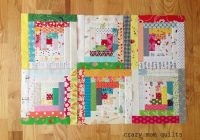 Stylish crazy mom quilts the start of a traditional log cabin quilt 11 New Crazy Log Cabin Quilt Pattern
