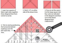Stylish creative grids half square 4 in 1 triangle ruler at everything 10 Cool Quilting Triangle Ruler