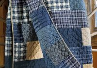 Stylish denim and flannel quilt denim quilt denim crafts diy quilts 11 Interesting Easy Flannel Quilt Patterns