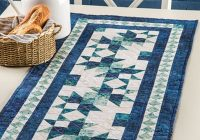 Stylish exclusively annies quilt designs wave runner table runner pattern 10 Modern Easy Table Runner Quilt Patterns