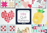 Stylish free mini quilt patterns u create Modern Pictures Of Quilt Patterns