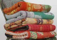 Stylish handmade quilts handmade vintage kantha quilt manufacturer 10 Modern Vintage Kantha Quilt