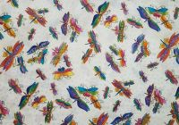 Stylish laurel burch flying colors ii dragonflies cream metallic clothworks quilt fabric 9 Cozy Laurel Burch Quilt Fabric
