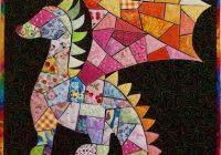 Stylish lily the dragon quilt art olena pugachova dragon 9 Modern Dragon Quilt Patterns Inspirations