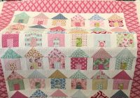 Stylish little house quilt is finally quilted house quilt patterns 9 Beautiful House Quilt Pattern