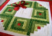 Stylish log cabin christmas wreath wall hanging plus bonus scrappy Cozy Eleanor Burns Log Cabin Quilt Pattern