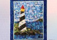 Stylish mini mosaic lighthouse quilt pattern 027706983888 quilt 9 Cool Lighthouse Quilt Patterns Gallery