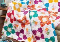 Stylish modern flower quilt pattern blossom heart quilts 10 Interesting Flower Patchwork Quilt Patterns