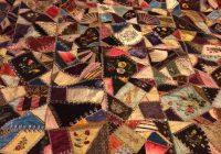 Stylish museum quality 1883 silk victorian crazy quilt crazy 10   Crazy Patchwork Quilt Patterns Inspirations