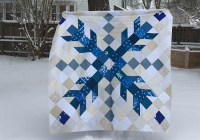 Stylish one giant snowflake makes a striking quilt quilts 11 Cozy Snowflake Quilting Pattern Gallery