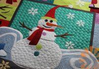 Stylish piece n quilt wanna build a snowman quilt custom machine 11 Stylish Snowman Quilt Pictures