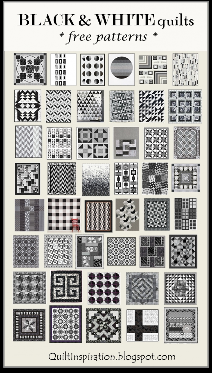 Permalink to New Black And White Quilt Patterns
