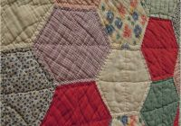 Stylish quilt inspiration vintage hexagon quilts 11 Cool Large Hexagon Quilt Pattern Gallery