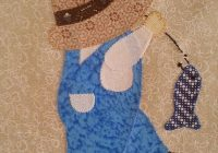 Stylish sunbonnet overall sam fishing applique quilt kit applique 10 Cozy Sunbonnet Sam Quilt Pattern Gallery
