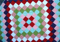 Stylish trip around the world quilt tutorial brights on white 10 Beautiful Trip Around The World Quilt Pattern Gallery
