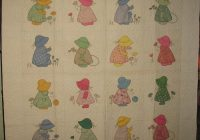 sunbonnet sue playing together vintage quilt Modern Vintage Sunbonnet Sue Quilt
