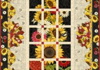 sunset blooms free quilt pattern sunset sunflowers Cozy Sunflower Quilt Patterns Free