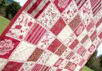 super fast super cute cheater quilt with piping sew4home Unique Cheater Quilt Fabric