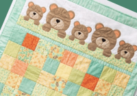 sweet teddy bear quilt for bas crib quilting cub Elegant Teddy Bear Quilt Patterns Gallery