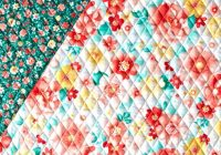 sweetness double sided quilted coralgreen Unique Double Sided Quilted Fabric Inspirations