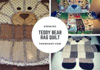 teddy bear rag quilt pattern easy video instructions ba Cozy Teddy Bear Rag Quilt Pattern Gallery