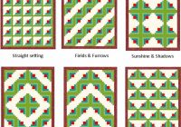 the many ways to arrange log cabin blocks on your quilt Unique Log Cabin Square Quilt Inspirations
