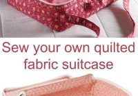 the weekender quilted case sewing ideas sewing sewing Stylish Sewing With Pre Quilted Fabric Inspirations