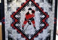 theme and pictorial quilts photo gallery hockey The Good Ole Hockey Game Quilt Pattern