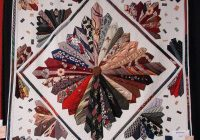 this is one of the prettiest necktie quilts i have seen 11 Elegant Necktie Quilt Ideas Inspirations