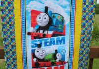 thomas the train quilt 38 x 52 blanket ba bedding toddler wall hanging lap quilt handmade quilted thomas the tank reversible play mat Cozy Thomas The Train Quilt Patterns Gallery