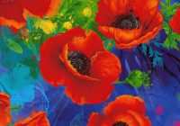 timeless treasures i dream of poppy quilt fabric allover poppies style cd6764 Cozy New Poppy Quilt Fabric